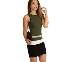 Olive Feeling It Bodycon Dress
