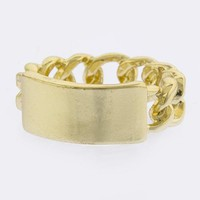 Name Plate Chain Ring