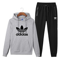 Trendsetter Adidas Women Men Top Sweater Pullover Hoodie Pants Trousers Set Two-Piece
