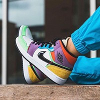 Nike Air Jordan 1 Mid SE MultiColor Basketball Shoes Sneakers