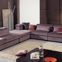 Free Shipping Fabric furniture new design Living Room L shaped with washable Fabric corner Sofa set ottoman and tea table