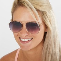 BKE Aviator Sunglasses - Women's Accessories in Rose Gold | Buckle
