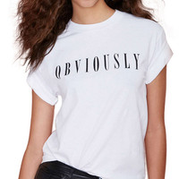 OBVIOUSLY Print Short Sleeve T-shirt