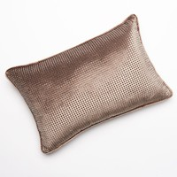 Jennifer Lopez bedding collection Desert Luxe Beaded Decorative Pillow (Beige/Khaki)
