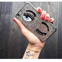 Eyes Shiny Embroidered Phone Case  for iPhone 5s 6 6s 6 6sPlus