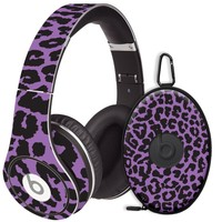Purple Leopard Decal Skin for Beats Studio Headphones & Carrying Case by Dr. Dre