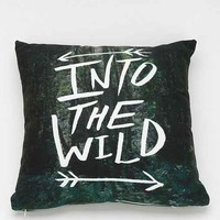 Leah Flores For DENY Into The Wild Pillow- Green One