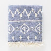Turkish-T - Kilim Beach Towel | Blue