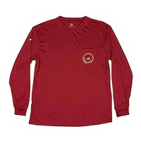FieldTec Pocket Tee - Long Sleeve in Crimson with Tan by Southern Marsh