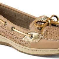 Sperry Top-Sider Angelfish Woven Slip-On Boat Shoe LinenWovenLeather, Size 9.5M  Women's Shoes