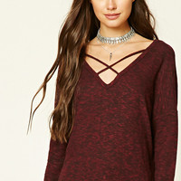 Slub Knit Strappy Top