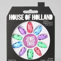 House Of Holland X Elegant Touch Jewel Thief Faux Nail Set - Urban Outfitters