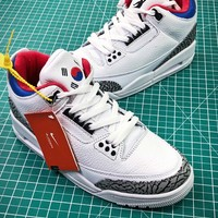 Air Jordan 3 Aj3 Seoul Av8370-100 Sport Baskteball Shoes - Sale