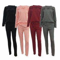 Fitness Workout Cotton Set Trainingspak Running Set Sports Suits Jumpsuit Clothes Sportswear Jogging Gym For Women Clothing