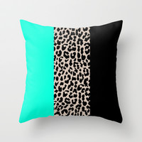 Leopard National Flag VII Throw Pillow by M Studio
