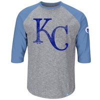 Majestic Kansas City Royals Cooperstown Collection Home Stretch Raglan Tee