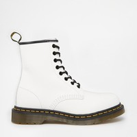 Dr Martens | Dr Martens Modern Classics White Smooth 1460 8-Eye Boots at ASOS