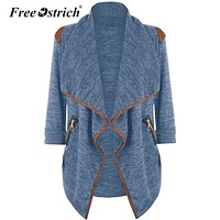Free Ostrich Cardigan Women Elastic Winter Sweater Knitted Cardigan Female Coat Soft Casual Sweater Pull Outerwear L0430