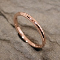 14k Rose Gold Ring Romantic Pink Wedding Band jewelry by SARANTOS