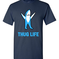 Funny Left Shark Thug Life T-shirt Tshirt Tee Shirt Gift Christmas xmas Party leftshark Dancing Shark Superbowl Halftime Show