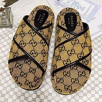 GG Multicolor platform sandal slippers Shoes Yellow