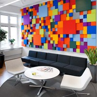 Cheerful Pensions Agency Interior Design in Sweden