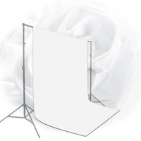 Loadstone Studio 10 x 20 ft. White Chromakey Photo Video Studio Fabric Backdrop, Background Screen, Pure White Muslin, Photography Studio, WMLS2106 - Walmart.com