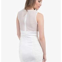 White Posh Sleeveless Cocktail Dress | $10.0 | Cheap Trendy Club and Party Dresses Chic Discount Fa