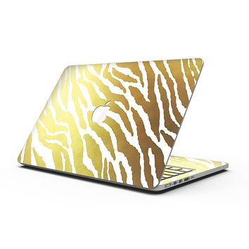 The Highlighted Golden Zebra Pattern - MacBook Pro with Retina Display Full-Coverage Skin Kit