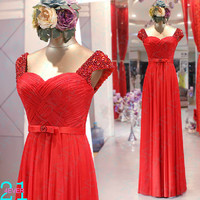 Red Long Bridesmaid Dress, Beaded Evening Prom Dress, Sexy Bridesmaid Dresses Long, Affordable Beaded Straps Red Bridesmaid Dress Party Gown