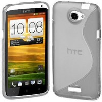 Cimo S-Line Back Case Flexible TPU Cover for HTC One X, One X+ - Clear