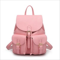 Leather Backpacks Schoolbag