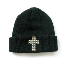 Studded Cross Beanie