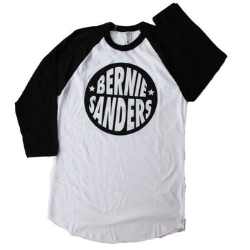 Bernie Sanders Adult Unisex Men's Women's Graphic Baseball Raglan Tee Shirt