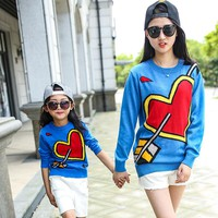 Mommy and Me Heart Crush Sweater