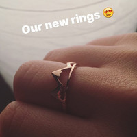 Simple Rose Gold Fall/Winter Mountain Adventure Adjustable Stackable Ring