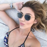 NEW AUTHENTIC HEXAGONAL RAY BANS 51mm Gold Frame Classic G-15 Lens RB3548N 001