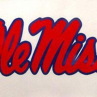 DCCKIHN Mississippi Rebels Ole Miss Reusable JUMBO Cling Static Decal University of