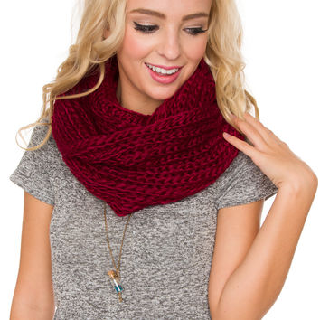 Once Upon A Time Scarf - Red - One Size / Red