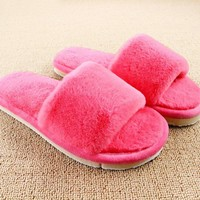 Design Women Slippers Comfortable Ladies Slides Home Indoor Plush Slippers Female Shoes Fur Chaussure Femme