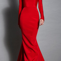 Fluted Skirt Gown | Moda Operandi