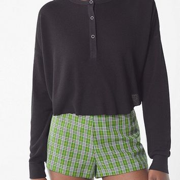 Out From Under Emmy Cropped Henley Top   Urban Outfitters