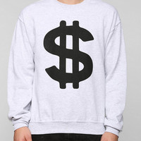 Dollar Sign Pullover Sweatshirt  - Urban Outfitters