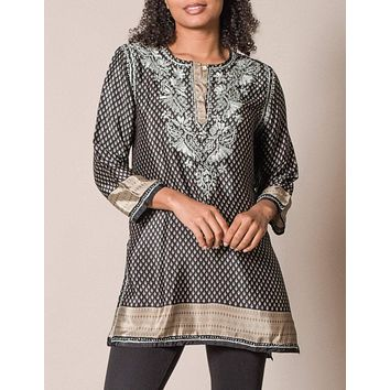 Fair Trade Shalimar Tunic - Black As-Is-Clearance - XL Only