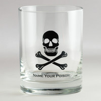 Skull & Crossbones Double Old-Fashioned Glasses, Set of 4