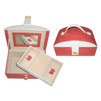 Storage Boxes Jewelry Women Cosmetic box Gift Romantic red 90321