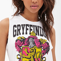 FOREVER 21 Gryffindor Graphic Crop Top White/Multi