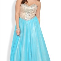 Dress with Sequin Corset Bodice