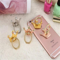 Fashion Universal Mobile Phone Ring Stent Classic diamond ring crown metal cell phone holder Matal Ring stand