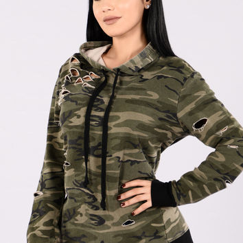 Cry Me A River Sweater - Camo